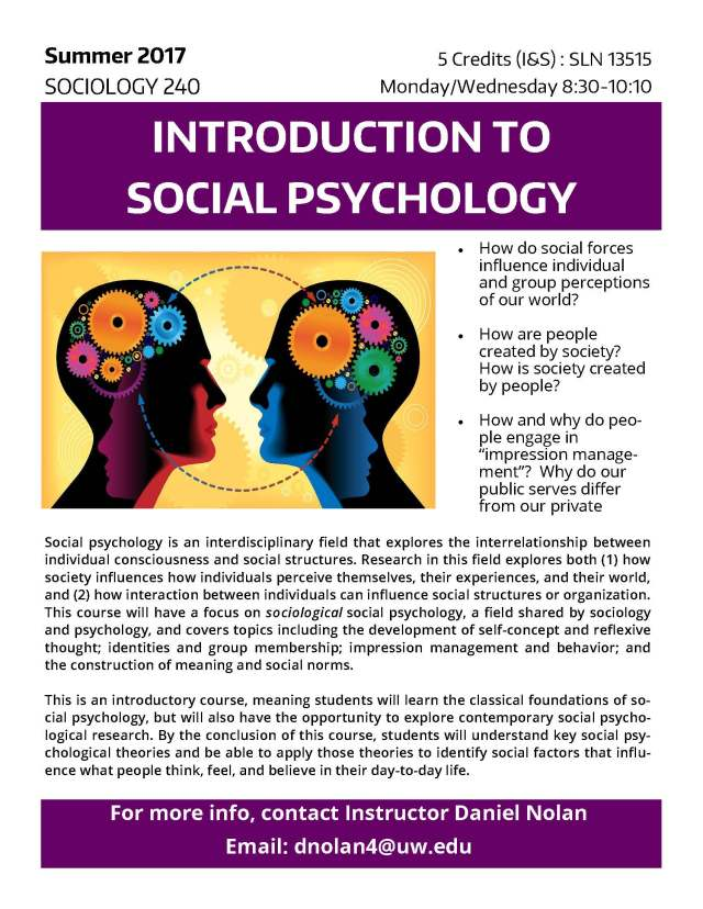 psychology coursework introduction Finally, 10 elective credits of psychology coursework are required to round out the 36 credits additional information provides an introduction to psychology as a social and behavioral science, focusing on its major topics, methods, theories, applications, and the integration of psychology and christianity si psyc 101l.